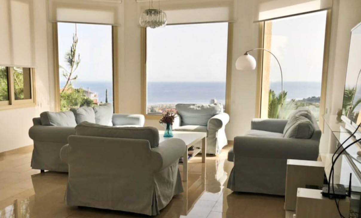 5 Bedroom Sea View House For Rent In Ayios Tychonas Limassol