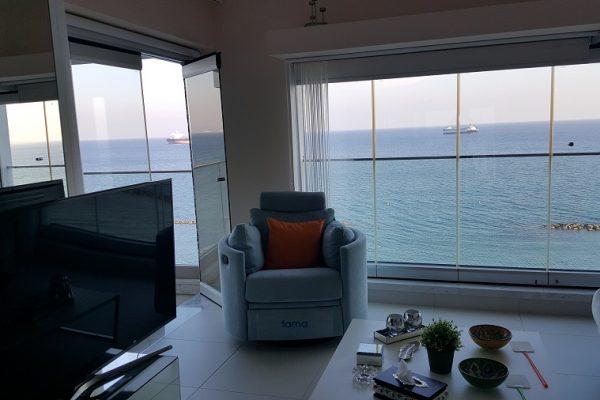Duplex 2 Bedroom Sea view Apartment for Sale close to Molos area, Limassol