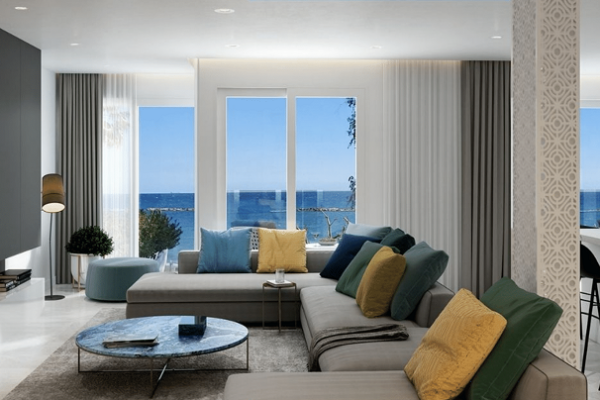 Modern & Elegant 3 Bedroom Seafront Apartment for Sale in Tourist area, Ag. Tychonas, Limassol